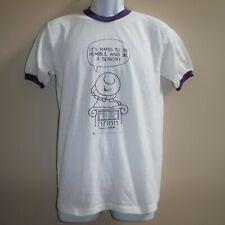 Vtg 70-80's Ziggy It's Hard To Be Humble Senior Muncie Ringer T Shirt