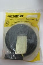 Vtg Electriduct Electrical Power Extension Outlet Flat Cord 8 Ft Black