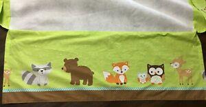 Lambs & Ivy Bedtime Originals Friendly Forest Woodland Animal Crib Skirt VGUC