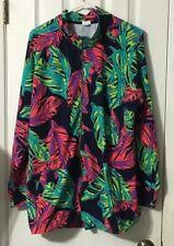 Sun Bay 1X Floral Full Zip Light Jacket