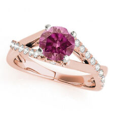 0.73 Ct Fancy Pink Diamond Solitaire Ring 14k Rose Gold Valentineday Spl. Sale