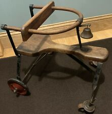 Antique 1900 Baby Walker, Great Primitive Patina, Great Doll Display
