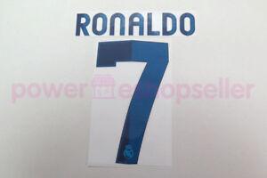Real Madrid 2012/2013 #7 C.RONALDO Homekit Nameset Printing