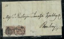 INDIA COVER (PP0407B) 1861 1V 1A PR CALCUTTA#1  FULL LETTER TO BOMBAY
