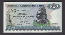 """ZIMBABWE $20 P4a """"Salisbury"""" 1980 UNCIRCULATED Scarce!"""
