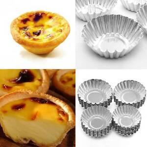 10pcs Egg Tart Tins Pan Cupcake Liners Muffin Cases Chocolate Baking Mould
