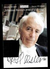 Johannes Heesters Autogrammkarte Original Signiert # BC 138325