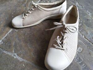 HOTTER COMFORT CONCEPT comfy shoes flats sneakers beige brown 8 41 vgc