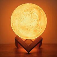 3D Moon Lamp Air Humidifier Diffuser Aroma Essential Oil USB Purifier DIY Decor