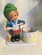 Vintage 1979 Little Drummer Boy Porcelain Candle Holder