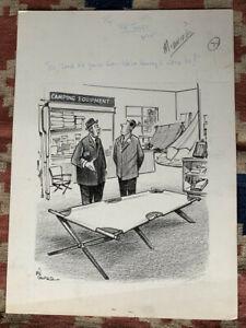 Signed Bil Canfield Original Political Cartoon Newspaper Art United Nations (UN)