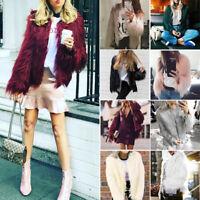 STYLISH Women's Warm Faux Fur Coat Jacket Cardigan Winter Parka Outwear Overcoat
