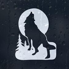 Noche Wolf en una luna luz coche decal Vinilo Adhesivo Para Ventana De Parachoques Panel
