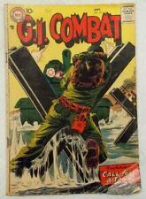 1957 G.I. Combat #52 Superman DC National Comic Call For A Tank & The Big Sweep