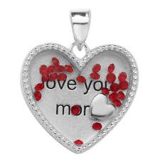 Collares y colgantes de joyería de metales preciosos sin piedras rojas colgante