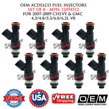 8/UNIT OEM ACDelco Fuel Injectors 2007-2009 CHEVY & GMC 4.3/4.8/5.3/6.0/6.2L V8