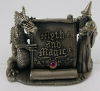 the tudor mint myth and magic the magical encounter pewter statue with box