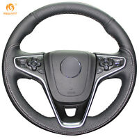 Leather Steering Wheel Cover for Buick Regal Opel  Insignia 2014 2015 #OB01