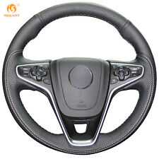 Black Leather Steering Wheel Cover Wrap for Buick Regal Opel  Insignia 2014 2015