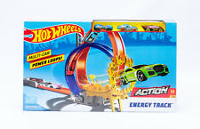 Mattel FKV69 Hot Wheels Rennbahn Energy Trackset mit Looping und 3 Autos