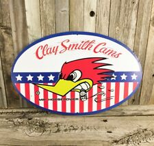 """Mr. Horsepower Clay Smith Cams 16"""" Red Bird Embossed Metal Muscle Car Sign New"""