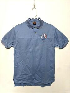 Vintage IBM 1984 Los Angeles Olympics embroidered Polo Shirt New Old Stock.