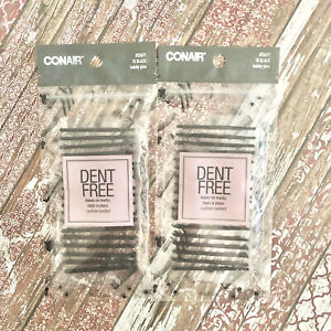 Conair 55691 Women's Dent Free Bobby Pins Black Styling Clips 18ct Lot Of 2