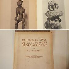 African Art book Kjersmeier VINTAGE YEAR 1938 Mask Statue Figure Sculpture