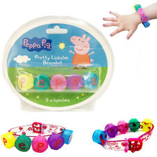 Peppa Pig Kids Lip Balm Mini 5 Chap Gloss Set Bracelet Girls Pack Lip Gift Kit