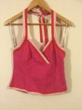 Warehouse Pink Top Halter Neck Size 14 <R874