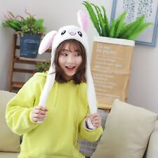 Rabbit Hat Ear Will Move When You Hold The Leg Funny Plush Hat Toy Child WEIBO