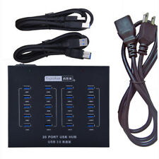 Powered  Industrial Grade USB 3.0 Hub 20 Port High Speed Data Transfer and Power
