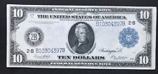 $10 SERIES OF 1914 FEDERAL RESERVE NOTE / WHITE MELLON SIGNATURES / NEW YORK