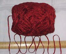 9 X 100g Opulent Rusty Red Chenille Double Knitting Wool Yarn Soft DK 900g