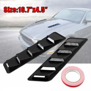 2Pcs Car Decorative Air Flow Intake Hood Scoop Vent Bonnet Cover Universal Black