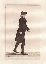 JOHN KAY Original Antique Etching.  Dr. Gregory Grant, 1799