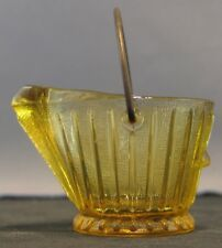 Vintage Continental Can Comp. Amber Glass Coal Bucket Ashtray Toothpick Holder