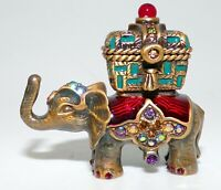 JAY STRONGWATER RARE HAND SIGNED IN DALLAS TRUNK UP ELEPHANT TRINKET BOX