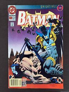BATMAN #500U  DC COMICS 1993 VF+ NEWSSTAND VARIANT COVER
