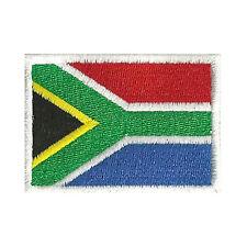 [Patch] BANDIERA SUD AFRICA cm 7 x 5 toppa ricamata ricamo SOUTH AFRICA -127