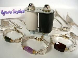 Original SPOON BENDER,Make Beautiful Silver & Gemstone Bracelets from SPOONS