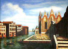 VENICE, ITALY Canals Oil Painting Large 3'x4'