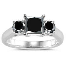 Silver Ring ( see video ) 3.19 ct Great Aaa Black Solitaire .925