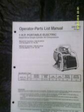 Coleman Powermate 1 hp Portable Electric Air Compressor Parts Manual 200-2092