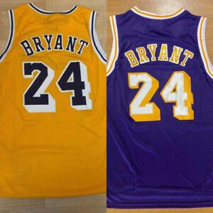 Los Angeles Lakers #24 Men's Gold / Purple Hardwood Classics Throwback Jersey