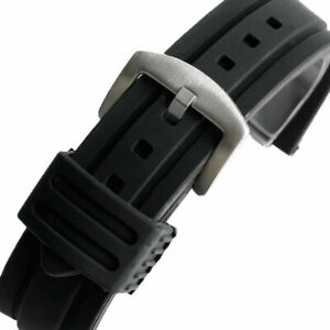 20mm 22mm 24mm 26mm 28mm Watch Strap Replacement Black Watch Band Waterproof