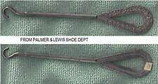 RARE ADVERTIZING BUTTON HOOK SHOE STORE  PALMER LEWIS SHOE DEPT