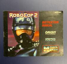 Nintendo NES Manual / Instruction Booklet - Robo Cop 2 - No Game Freeship
