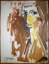Antonio Guansé encre et aquarelle sur papier signée Jacqueline Art Abstrait
