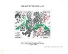 Monaco - 1990 - Italia 90 Coupe du monde de Foot - Bloc N° 50 - Oblitéré - Used